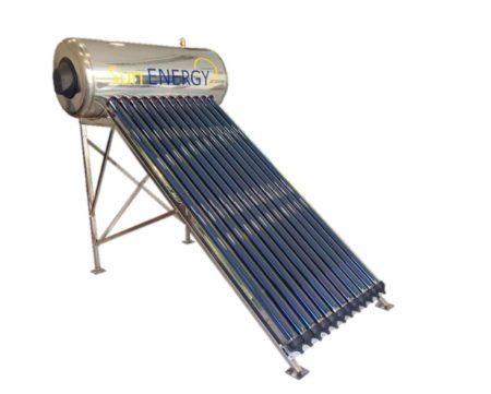 SUNENERGY premium 250 L/3.5m² Ηλιακός κενού αέρος Υψηλής πίεσης INOX